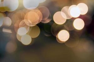 fond de bokeh de lumières de Noël photo