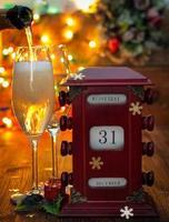 calendrier, 31 décembre, verres à champagne