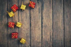 décoration vintage de Noël sur le fond en bois photo