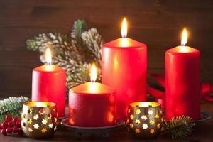 décoration de lanterne de bougies de Noël