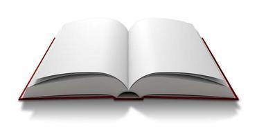 livre paginé vierge ouvert photo