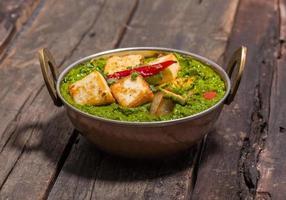 cuisine indienne punjabi, palak paneer