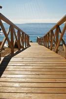 Escaliers de plage à Majorque photo