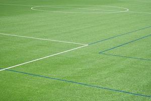 fond de terrain de football avec gazon artificiel