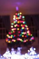 bokeh de lumière de sapin de Noël