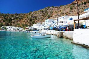 village grec de loutro, crète