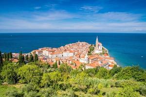 Panorama du magnifique piran, slovénie