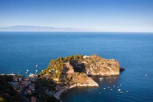 taormina, sicile, vue magnifique sur la mer.