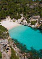 Cala macarelleta à Minorque dans les îles Baléares photo