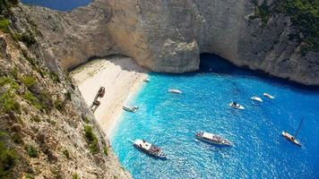 Navagio - plage de naufrage sur l'île de zakynthos