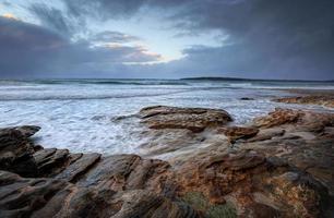 Oak Park, Cronulla un jour de pluie avec des mers choppyn