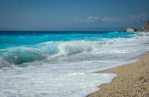 Plage de Kalamitsi, Levkada, îles Ioniennes, Grèce