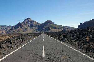 Route à travers le parc national, tenerife