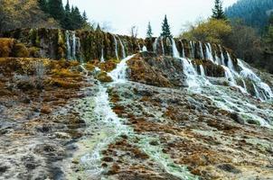 magnifique automne dans le parc national de huanglong