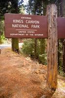 Entrée du parc national des rois canyon signe nous département de l'intérieur photo