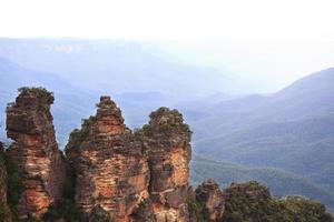 Trois sœurs parc national des montagnes bleues Australie photo