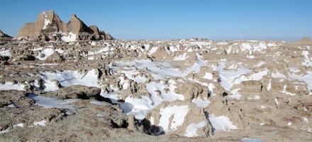 Parc national des Badlands dans le Dakota du Sud, USA
