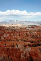 Le point d'inspiration dans le parc national de bryce canyon, utah usa