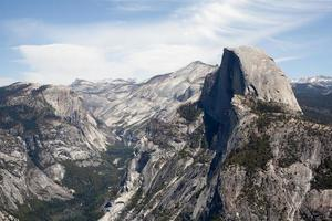 Yosemite demi-dôme de la pointe du glacier