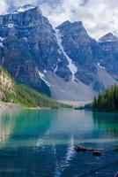 lac moraine, trois sommets
