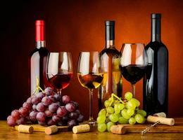 raisins et vin photo