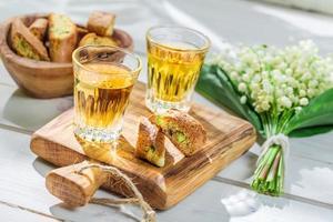 cantucci sucré avec vin santo