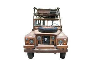 voiture safari sur fond blanc photo