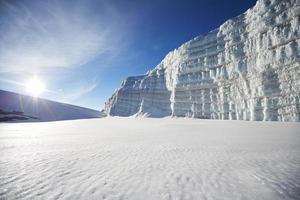 glacier sur le mont kilimandjaro photo