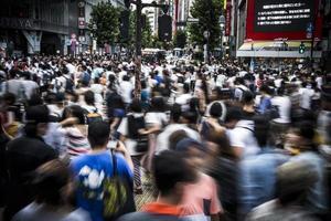 foule à tokyo photo
