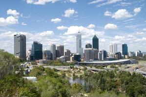 Vue sur la ville de Perth depuis le parc des rois