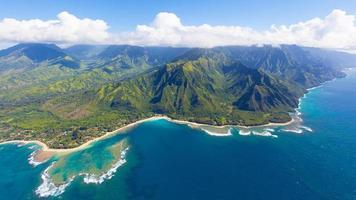 vue aérienne de kauai photo