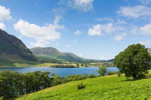 Crummock Water Lake District Cumbria North West England uk photo
