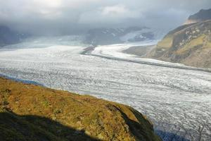 Moraine du glacier de skaftafellsjokull