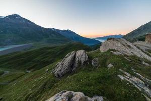 crépuscule alpin