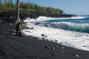 plage de sable noir photo