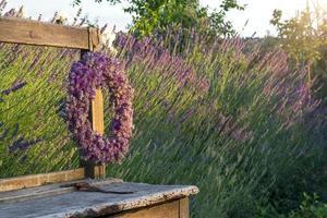 couronne de fleurs de lavande