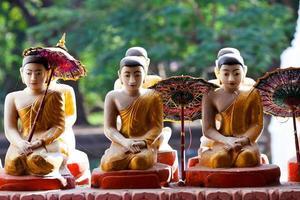 statues de Bouddha, myanmar
