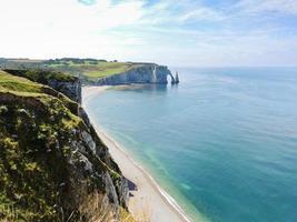 Cap sur la côte d'albâtre de la côte de la Manche photo