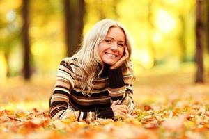 femme automne photo
