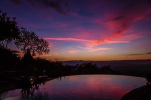 Vue du lever du soleil sur le lac Manyara