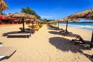 parasol et chaises longues à phuket