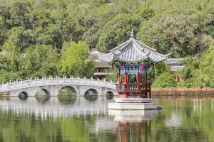 piscine de dragon noir, Chine de Lijiang.