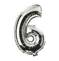police ballon chrome partie d'un ensemble complet de nombres, 6 photo