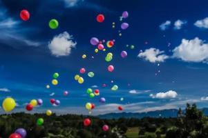 libération du ballon d'inclinaison photo