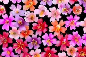 fleurs en plastique de recyclage botton pour le fond photo