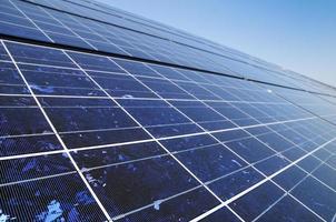 panneau de la production d'énergie photovoltaïque photo
