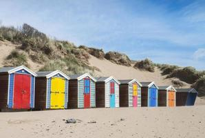 cabines de plage saunton sands photo