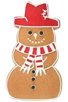 bonhomme de neige en pain d'épice photo