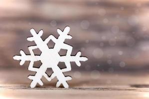 fond de flocon de neige léger photo