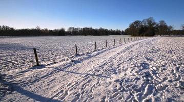 Route d'hiver près du parc de Twickel (Delden, Overijssel, Pays-Bas)
